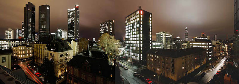 Architekturfoto: Panorama Frankfurt am Main Innenstadt